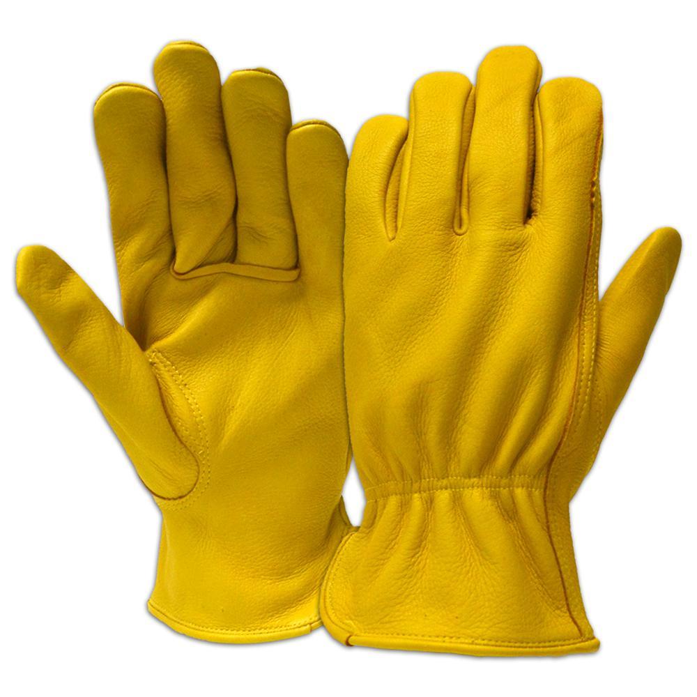 Full Grain Deerskin Leather Large Gloves (6-Pairs)