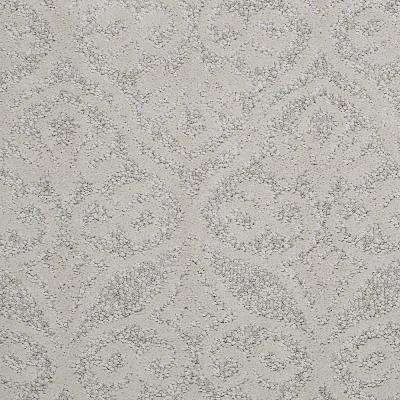 Carpet Sample - Perfectly Posh - In Color Ecru 8 in. x 8 in.