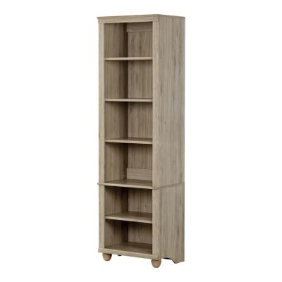 71.25 in. Rustic Oak Faux Wood 6-shelf Standard Bookcase with Adjustable Shelves