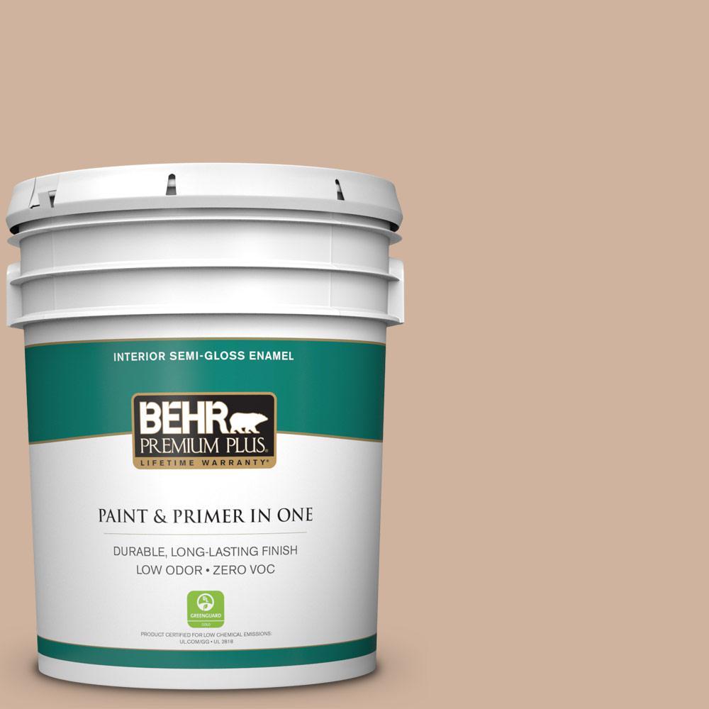 5-gal. #BNC-01 Bauhaus Buff Semi-Gloss Enamel Interior Paint