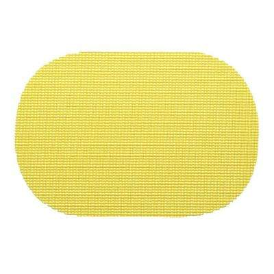 Fishnet Oval Placemat in Lemon (Set of 12)