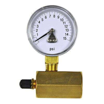 0 - 15 psi 1/10 Increment Gas Test Gauge