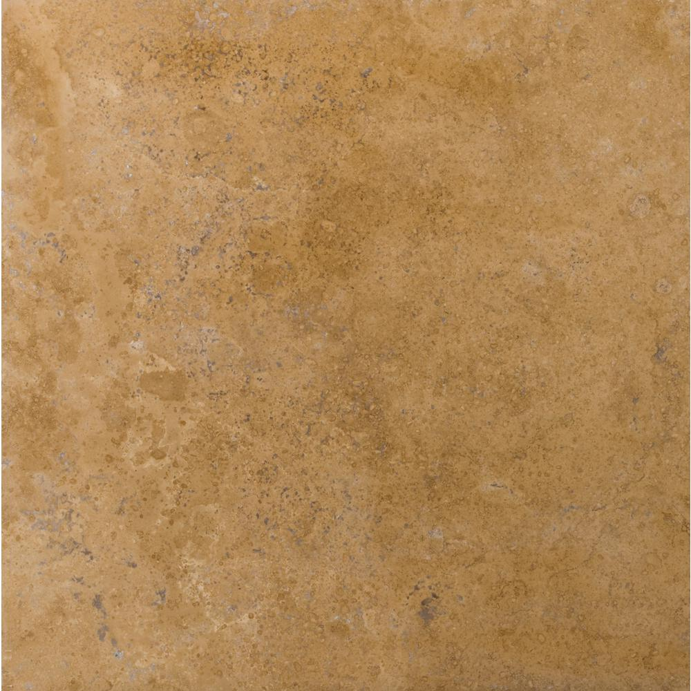 Honed travertine floor tiles