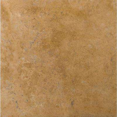 Trav Crosscut Noce Classic Filled and Honed 18.7 in. x 18.7 in. Travertine Floor and Wall Tile