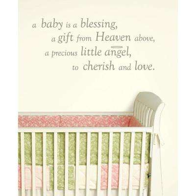Grey A Baby Is A Blessing Wall Wishes Wall Decal