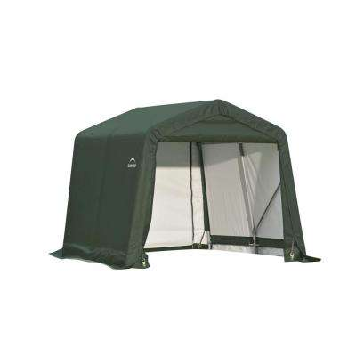 8 ft. x 12 ft. x 8 ft. Green Steel and Polyethylene Garage Without Floor