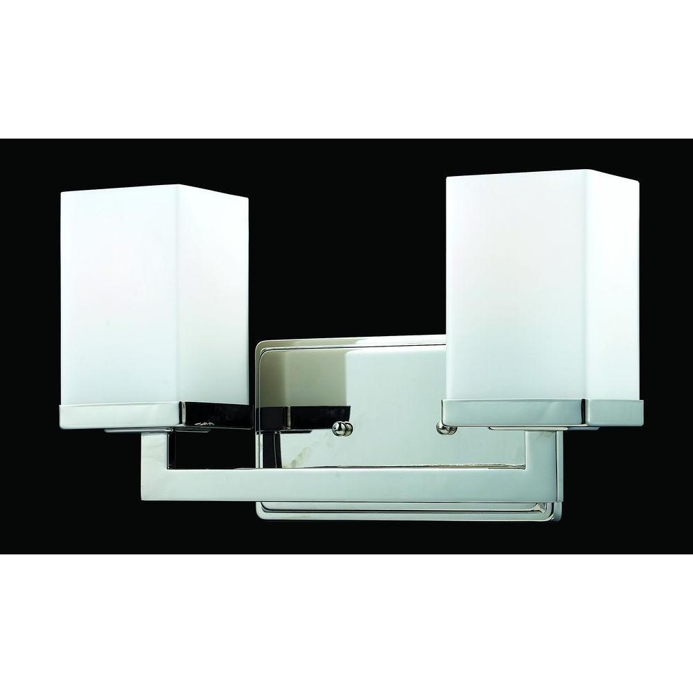 Filament Design Phebe 2-Light Chrome Flushmount Vanity Light with Matte Opal Glass