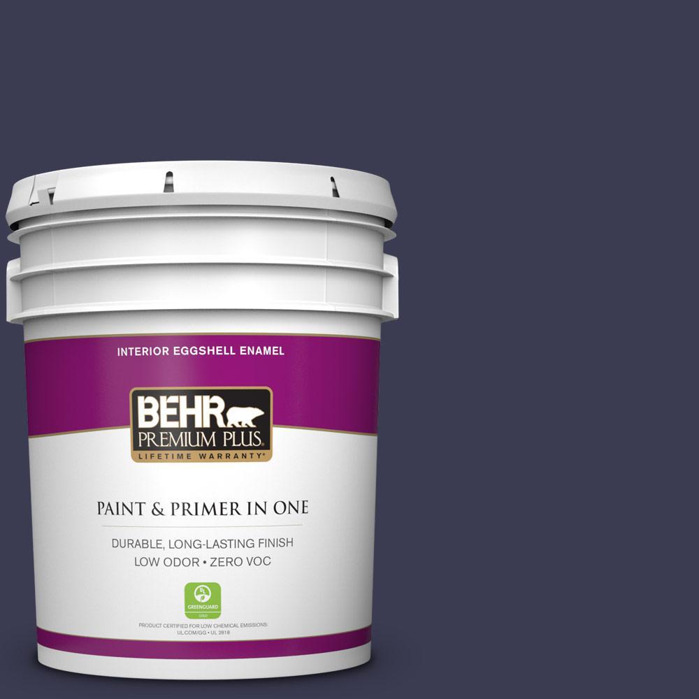 5 gal. #HDC-WR16-03 Blueberry Tart Zero VOC Eggshell Enamel Interior Paint