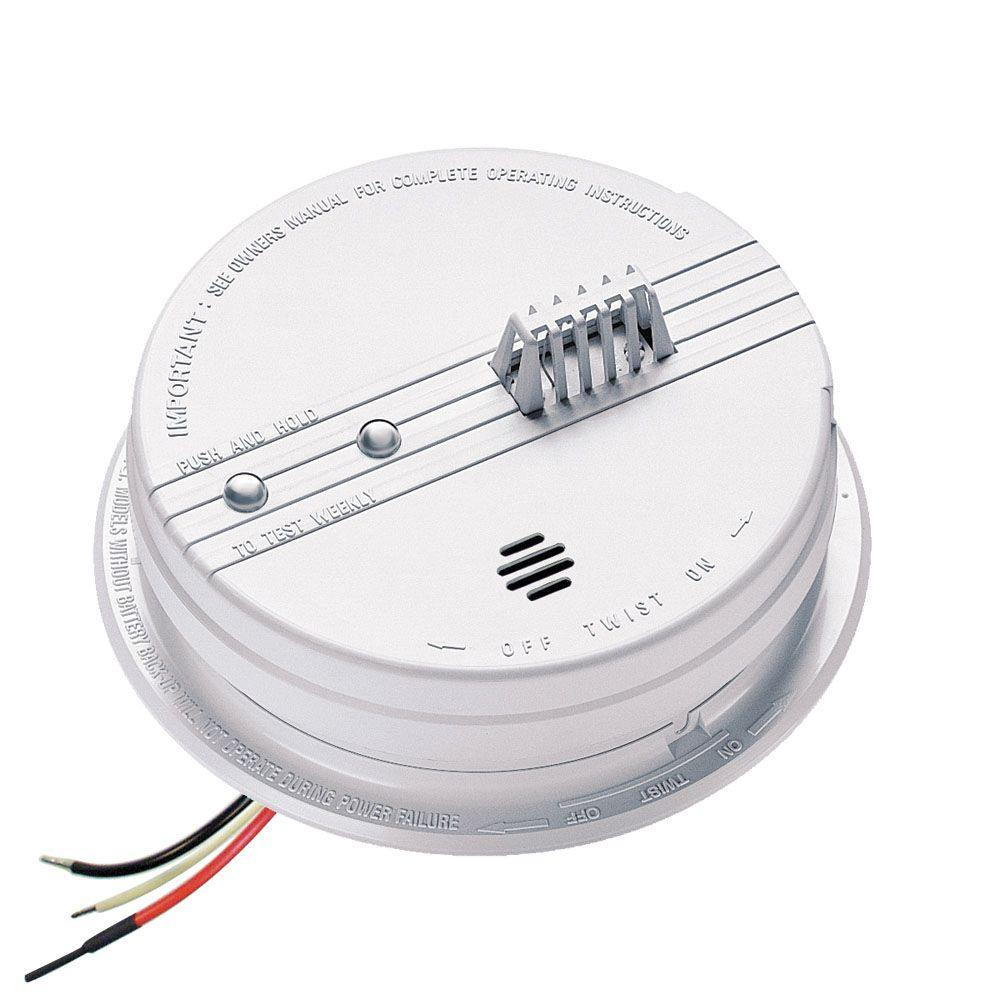 Kidde FireX Hardwired Inter-Connectable 120-Volt Auxiliary Heat Detector 135 Degree with Battery Backup