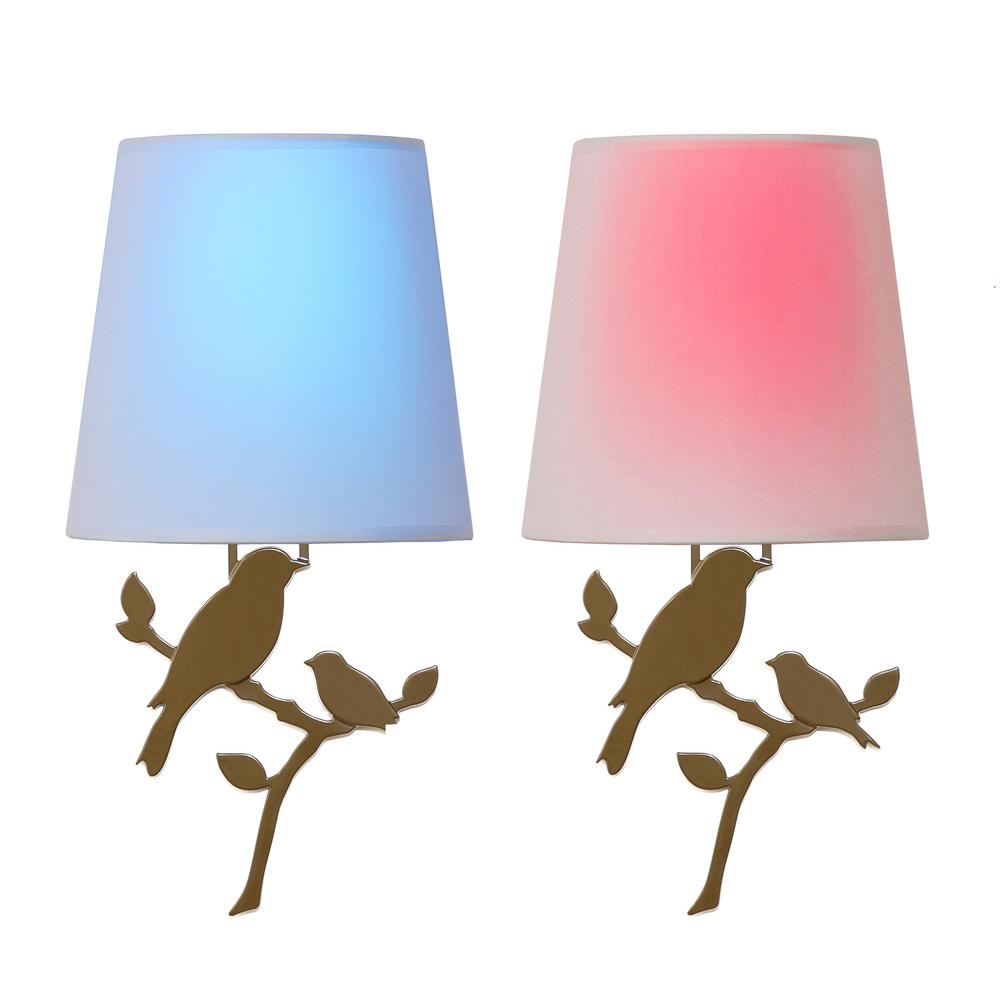 Toucan Olive Battery Operated Wall Light Bird Integrated LED Sconce (2-Pack) was $119.0 now $49.99 (58.0% off)
