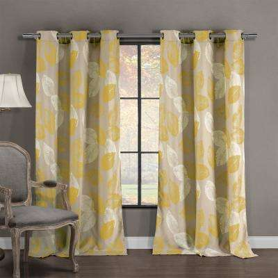 Milzie 40 in. W x 84 in. L Polyester Window Panel in Misted Yellow