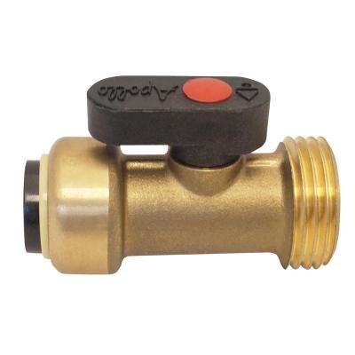 1/2 in. Brass Push-to-Connect x 3/4 in. Male Hose Thread Straight Washing Machine Ball Valve