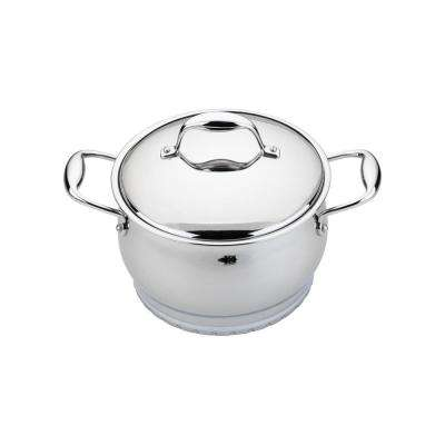 Zeno 2 Qt. 18/10 Stainless Steel Dutch Oven with Lid