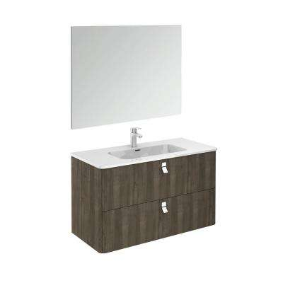 39 in. W x 20 in. D x 23 in. H Complete Bathroom Vanity Unit in Samara Ash with Mirror