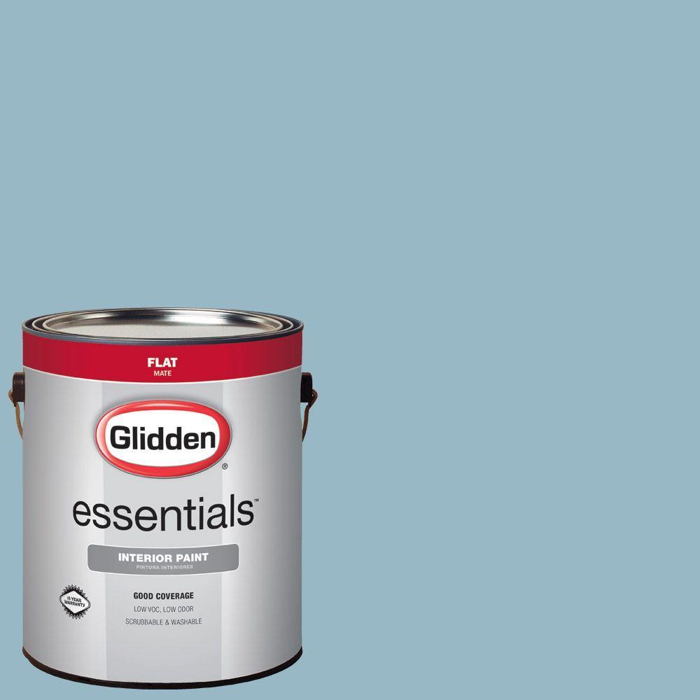 Glidden Essentials 1 gal. #HDGB50 Soft Rococo Blue Flat ...