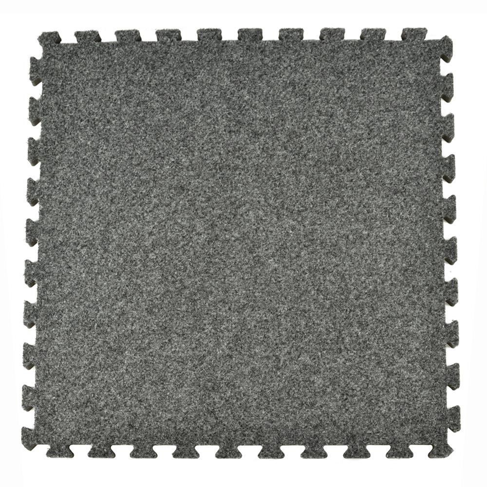 Royal Dark Gray Carpet Velour Plush 10 Ft X 5 8 In Interlocking Tile 96 875 Sq 25 Piece Kit