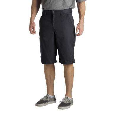 Regular Fit 34 in. x 13 in. Polyester Slant Multi-Pocket Short Dark Navy