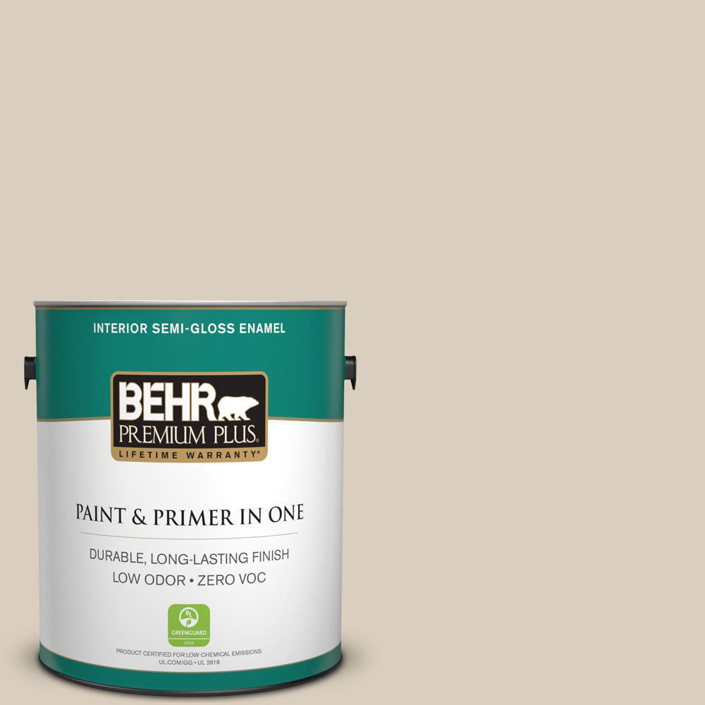 1-gal. #BWC-25 Sandy Clay Semi-Gloss Enamel Interior Paint
