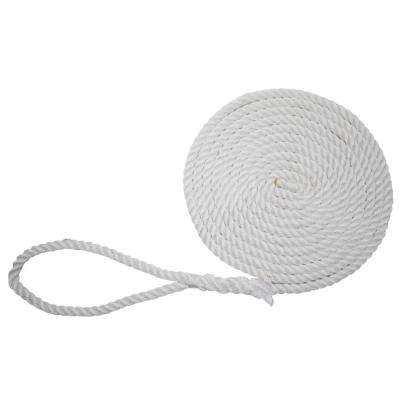 5/8 in. x 25 ft. BoatTector Twisted Nylon Dock Line in White