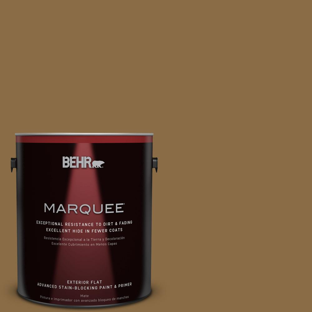 BEHR MARQUEE 1-gal. #330F-7 Nutty Brown Flat Exterior Paint