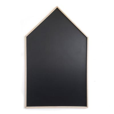 42 in. W x 70 in. H Black Peel and Stick Chalkboard with Real Wood Boarder Self-Adhesive