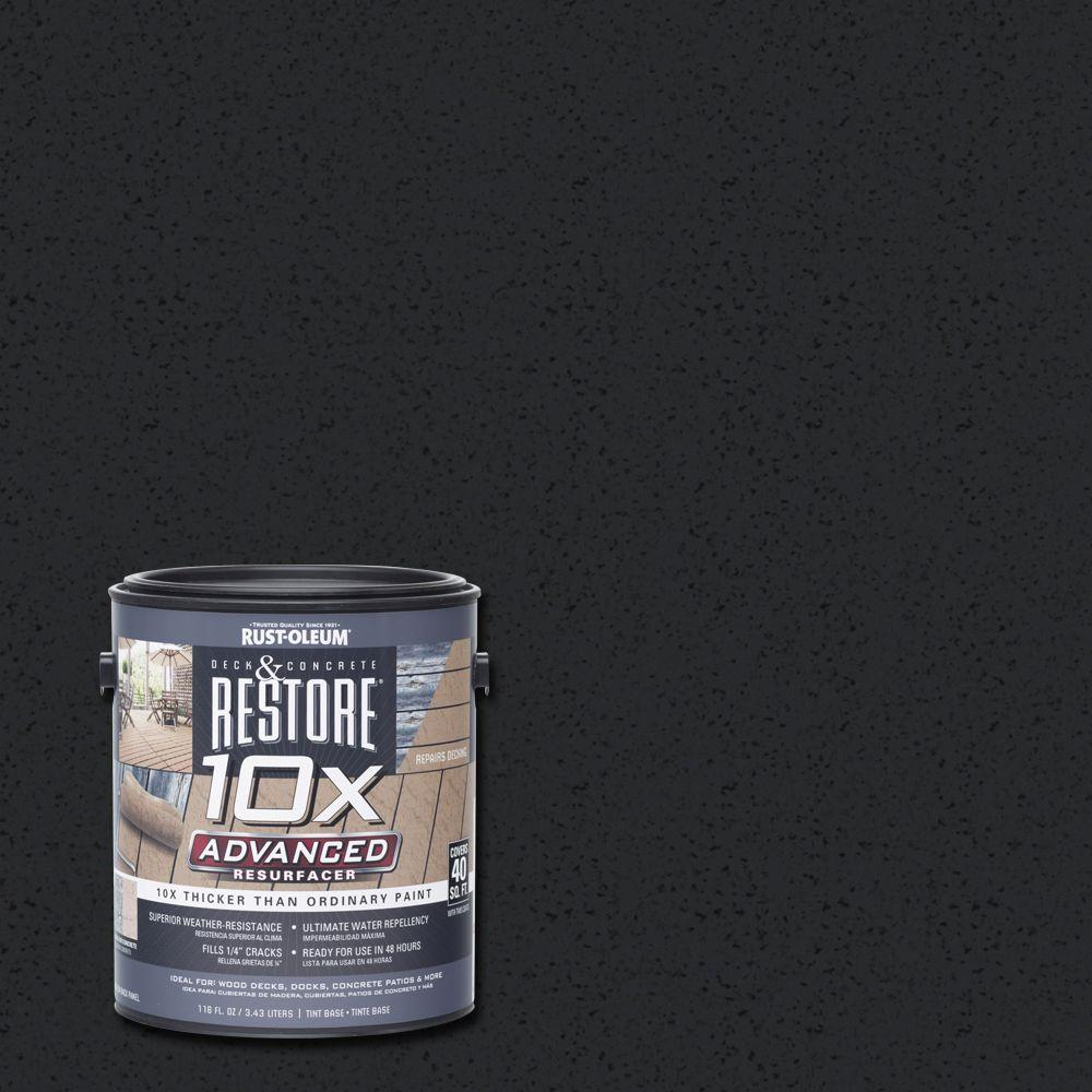 Rust-Oleum Restore 1 gal. 10X Advanced Black Deck and Concrete Resurfacer