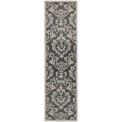 Lacy Charcoal 2 ft. x 7 ft. Runner Rug
