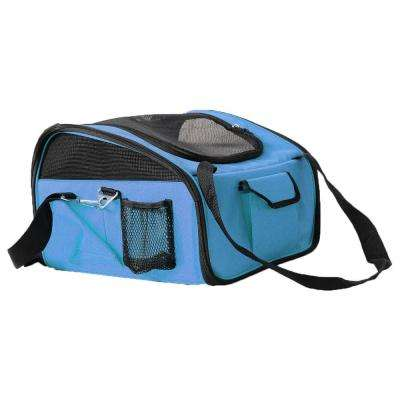 Blue Ultra-Lock Collapsible Safety Travel Wire Folding Dog Car Seat Carrier