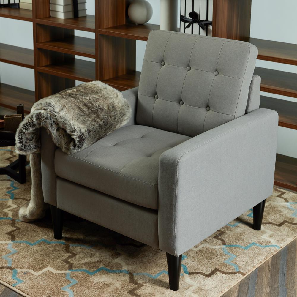 LOKATSE Industrial Gray Upholstery Arm Chair