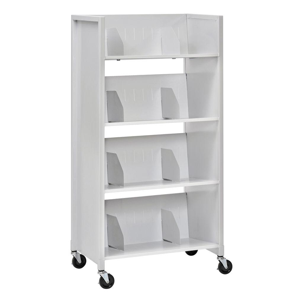 Buddy Products 26 in. W 4-Tier Medical File Folder Cart