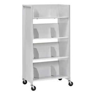 Buddy Products 26 inch W 4-Tier Medical File Folder Cart by Buddy Products