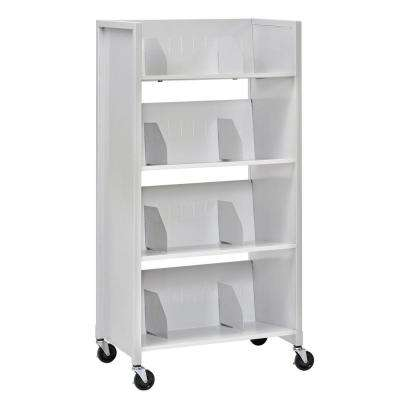26 in. W 4-Tier Medical File Folder Cart