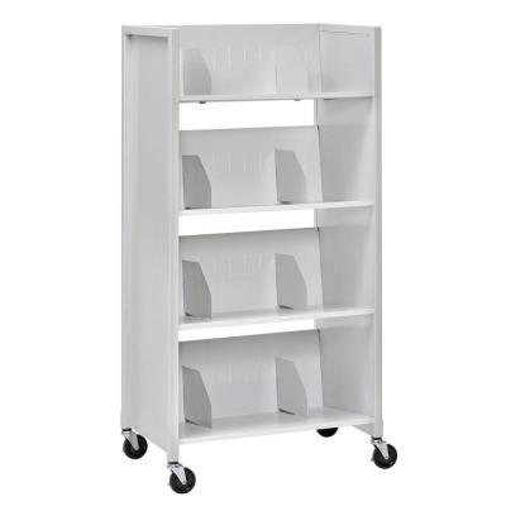 26 in. W 4-Tier Medical File Folder Cart