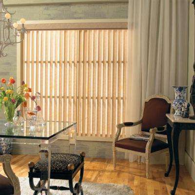 Almond Valance Vertical Blinds Blinds The Home Depot