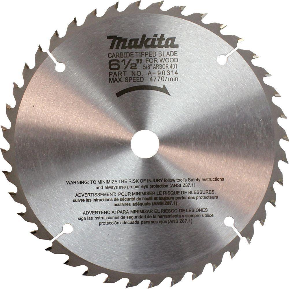 6-1/2 in. 40-Teeth Carbide-Tipped Circular Saw Blade