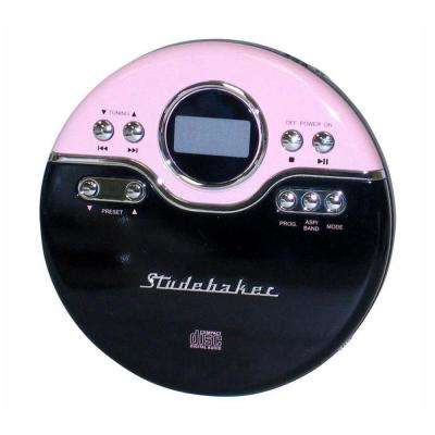 Joggable Personal CD Player with PLL Radio in Pink/Black