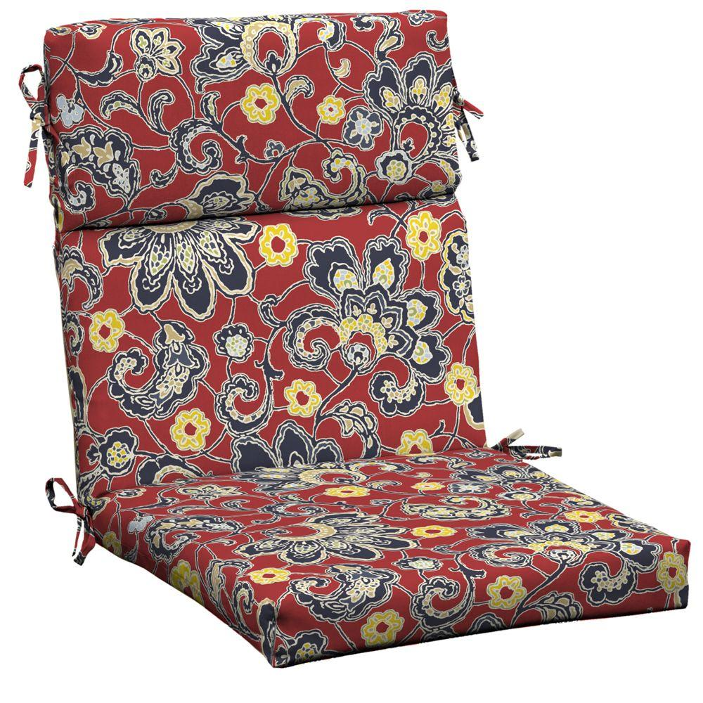 Hampton Bay Karen High Back Outdoor Chair Cushion
