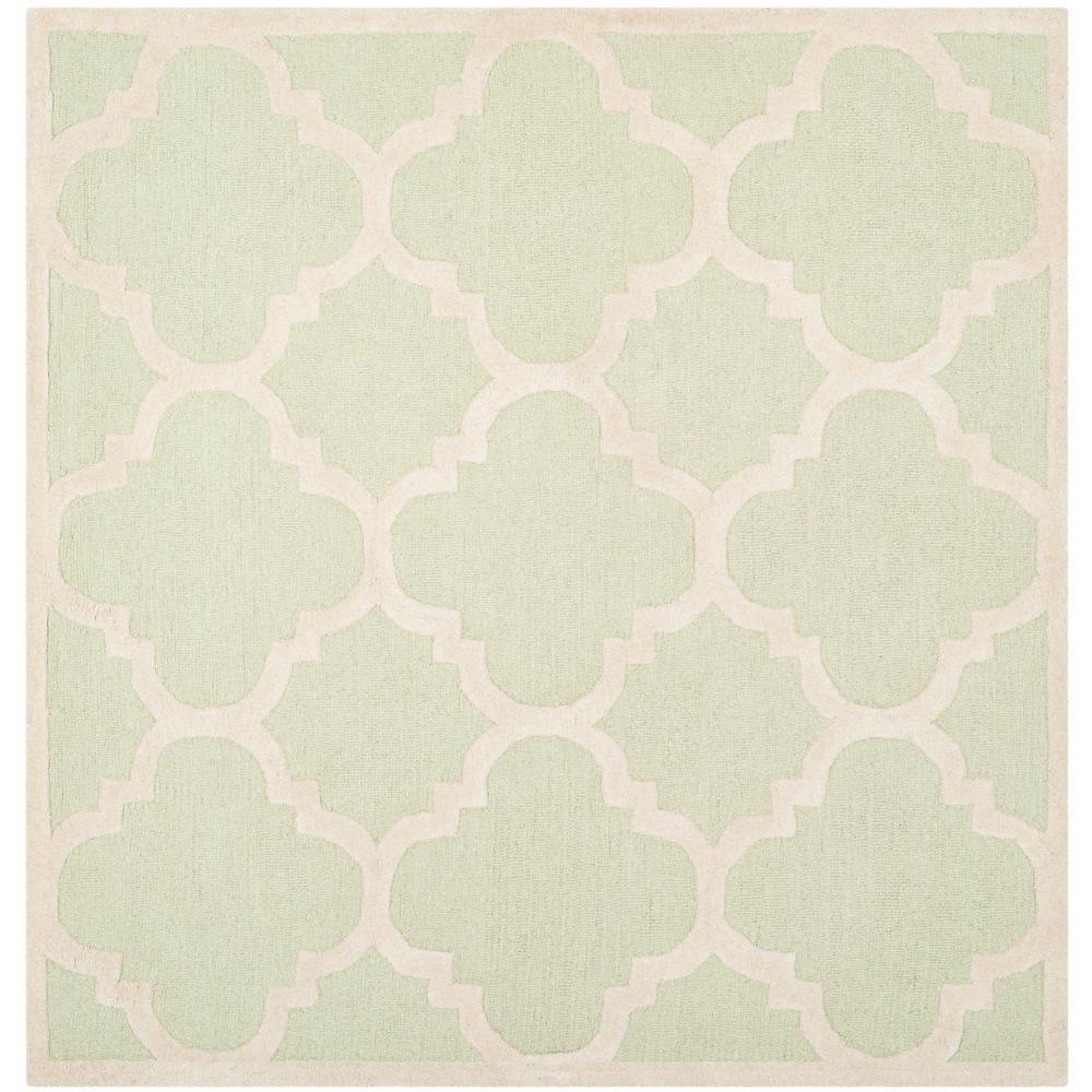Cambridge Light Green/Ivory 8 ft. x 8 ft. Square Area Rug
