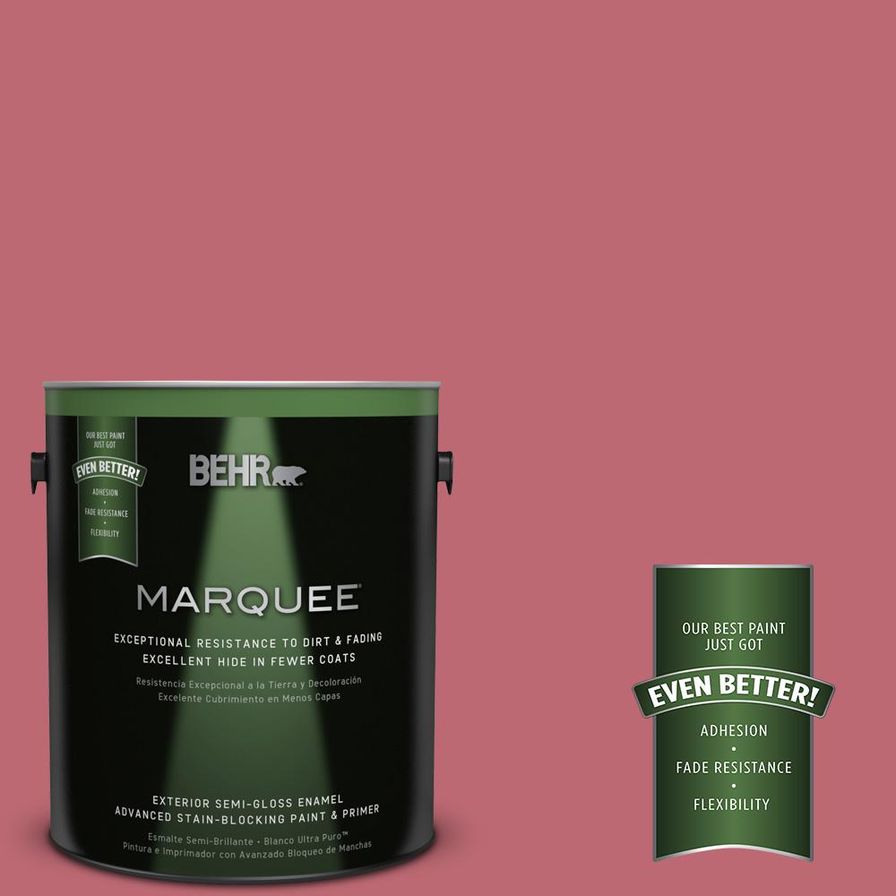 BEHR MARQUEE 1-gal. #M140-5 Cherry Fizz Semi-Gloss Enamel Exterior Paint