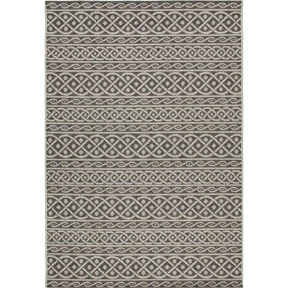 Home Decorators Indoor Outdoor Rugs: Home Decorators Collection Fordon Charcoal 5 Ft. X 7 Ft