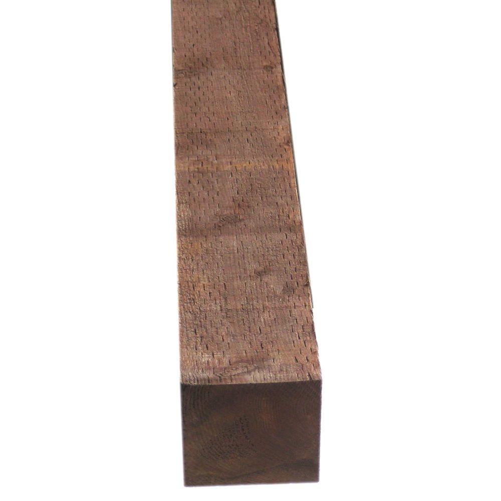 Pressure-Treated Timber HF Brown Stain (Common: 6 in. x 6 in. x 8 ft ...