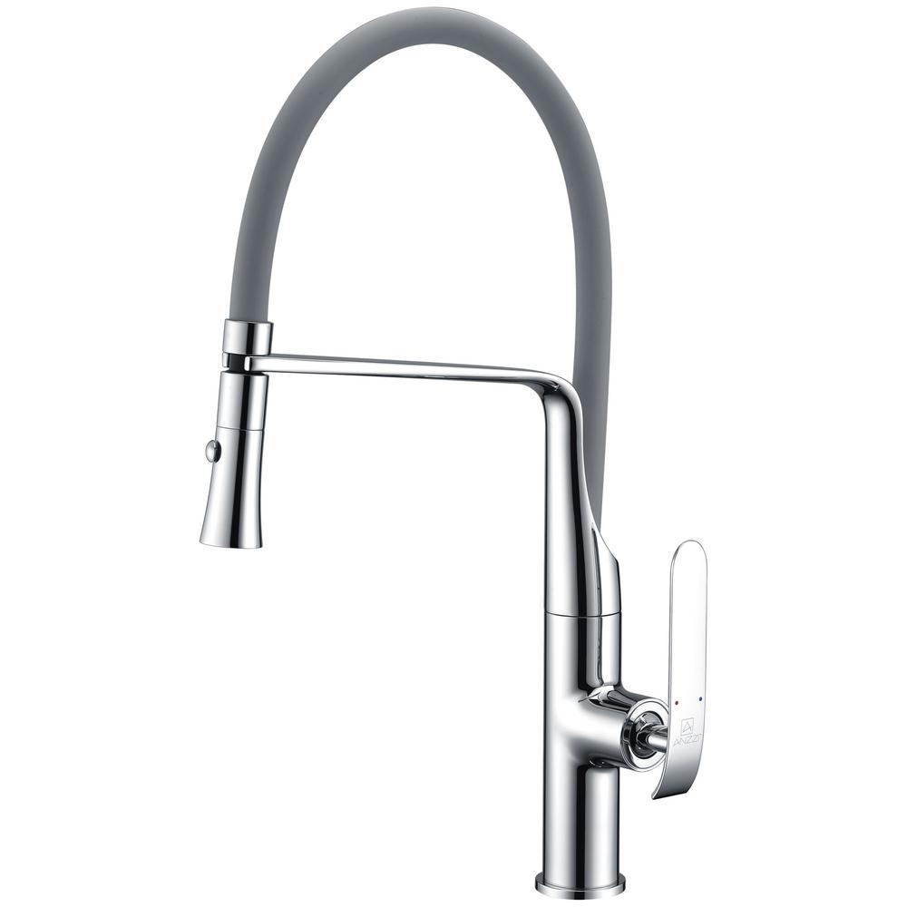European High Quality Folding Kitchen Faucet Household: GROHE Ladylux3 Single-Handle Pull-Down Sprayer Kitchen