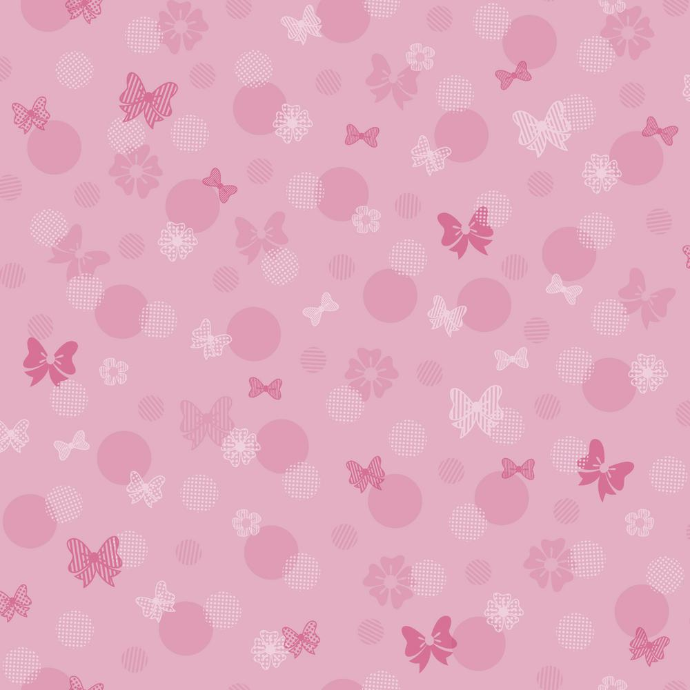 York Wallcoverings Disney Kids III Minnie Mouse Bows And Dots Wallpaper