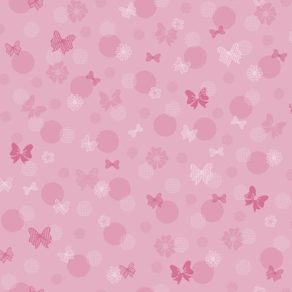 Disney Kids III Disney Minnie Mouse Bows and Dots Wallpaper