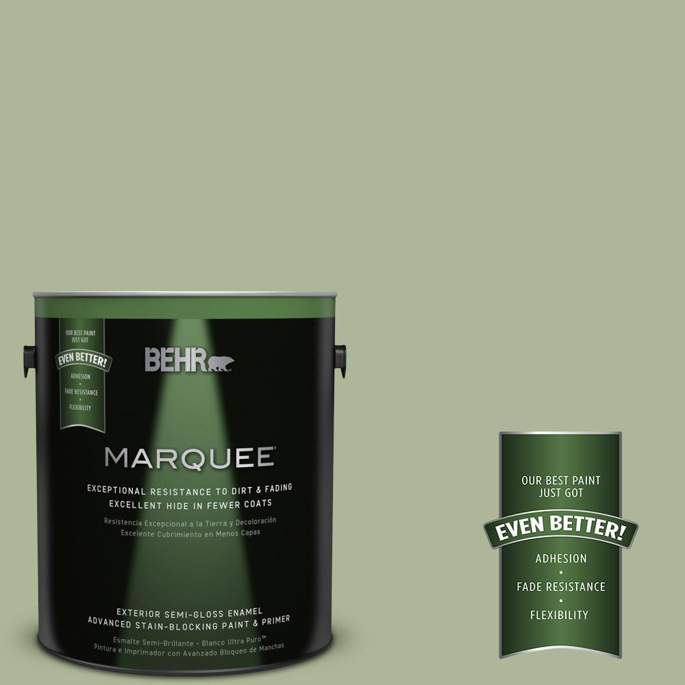 BEHR MARQUEE 1-gal. #PPU11-8 Moss Print Semi-Gloss Enamel Exterior Paint