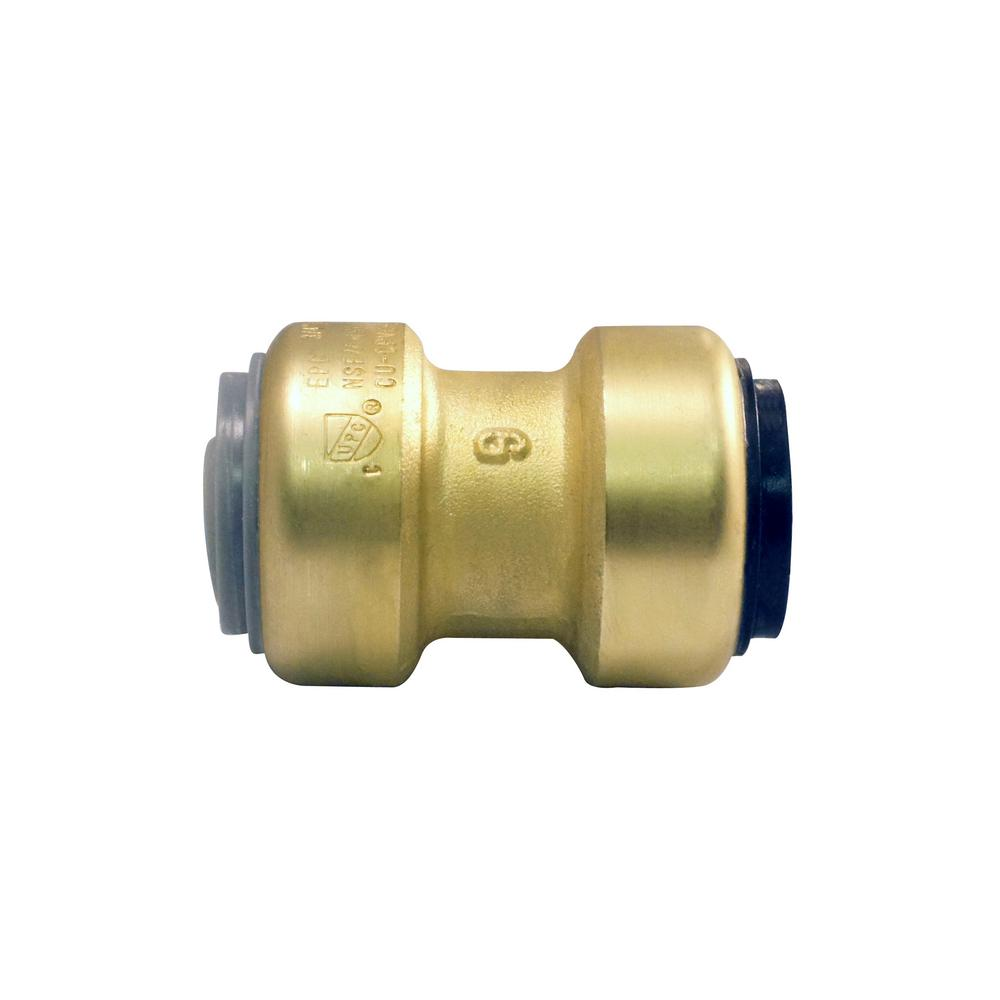 3/4 in. Brass Push-to-Connect Polybutylene Conversion Cou...