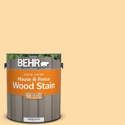 1 gal. #300A-3 Melted Butter Solid Color House and Fence Exterior Wood Stain