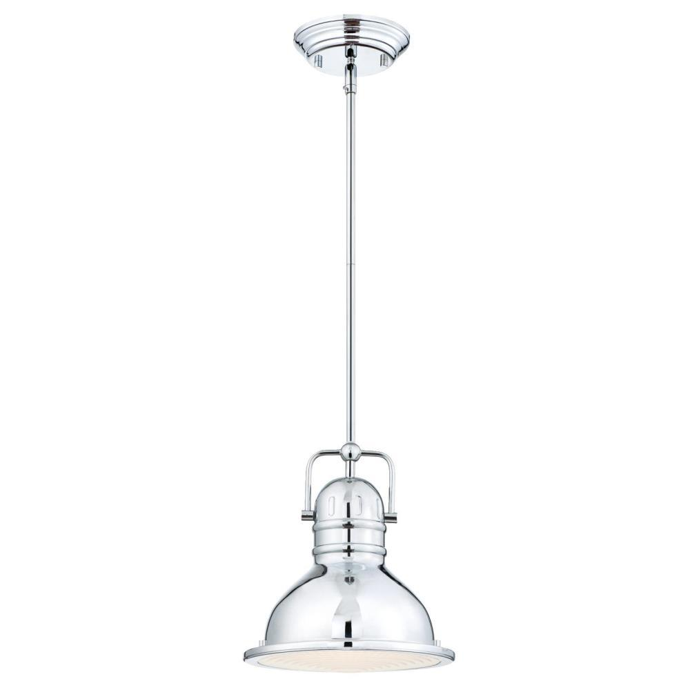 Westinghouse Boswell 1-Light Chrome LED Mini Pendant - Westinghouse Boswell 1-Light Chrome LED Mini Pendant-63083B - The