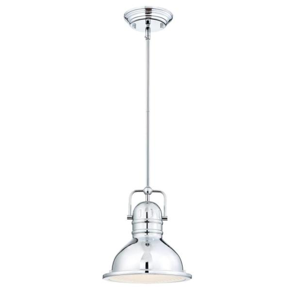 Boswell 1-Light Chrome Mini Pendant with LED Bulb