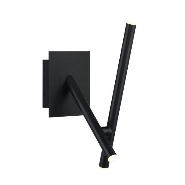 Crossroads 6'' Black Metal Integrated LED Wall Sconce